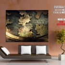 Westeros Game Of Thrones Ice And Fire Map HUGE GIANT Print Poster