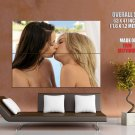 Hot Girls Sexy Kissing Topless Lesbian Huge Giant Print Poster