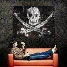 JOLLY ROGER Pirate Flag Skull Art Huge 47x35 Print Poster