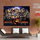 Mortal Kombat 9 Characters Art Huge Giant Print Poster