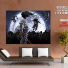 Afro Samurai Blood Sword Moon Anime Art Huge Giant Poster