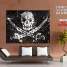 Jolly Roger Pirate Flag Skull Art Huge Giant Print Poster