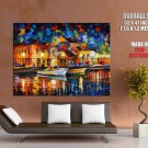 Night River Leonid Afremov Painting Art HUGE GIANT Print Poster