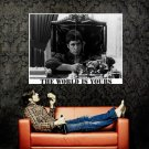 The World Is Yours Scarface Pacino Huge 47x35 Print Poster