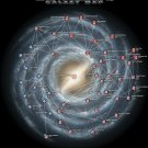 Mass Effect Galaxy Map Video Game 24x18 Print Poster