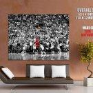Michael Jordan Jump Shot Utah Jazz Nba Huge Giant Print Poster