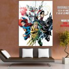 Justice League Heroes Comic Book Art HUGE GIANT Print Poster
