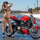 Ducati Street Hot Babe Sexy Bikini Sport Bike Motorcycle 16x12 POSTER