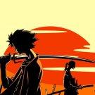 Samurai Champloo Mugen Jin Sunset Anime Manga Art 32x24 Print POSTER