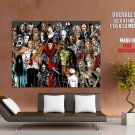 Best Horror Movie Characters Art HUGE GIANT Print Poster
