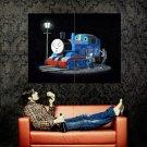 Thomas The Tank Engine Banksy Graffiti Street Art Huge 47x35 Print POSTER