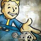 Vault Boy Dice Gambling Fallout Video Game 32x24 Print POSTER