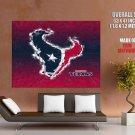 Houston Texans Logo Football Nfl Huge Giant Print Poster
