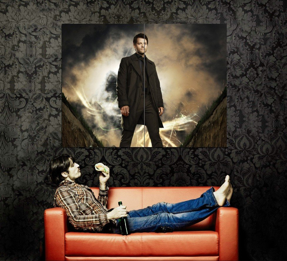 Supernatural Castiel Misha Collins TV Series Huge 47x35 POSTER