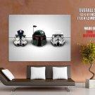 Star Wars Helmets Clone Stormtrooper Boba Fett Huge Giant Print Poster