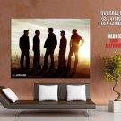 Entourage Sunset Los Angeles Skyline Tv Show Huge Giant Print Poster