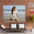 Lupe Fuentes Hot Wet Brunette Girl Huge Giant Print Poster