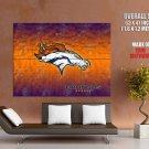 Denver Broncos Logo Football Nfl Huge Giant Print Poster