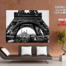 Eiffel Tower Trocadero 1900 Paris France Bw Huge Giant Print Poster