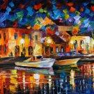 Night River Leonid Afremov Painting Art 32x24 Print Poster