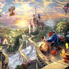 Beauty And The Beast Disney Painting Art 32x24 Print Poster