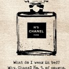 Chanel No 5 Marilyn Monroe Quote Art 16x12 Print Poster