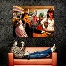 Pulp Fiction Art John Travolta Bruce Willis Uma Thurman Huge 47x35 Print POSTER