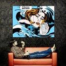 Roy Lichtenstein Girl IPod Music Art Huge 47x35 Print POSTER