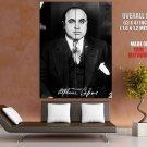 Al Capone Signature Gangster Mobster Outlaw Huge Giant Poster