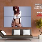 Hot Girl Lingerie Big Boobs Sexy Pubic Huge Giant Print Poster