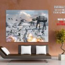 Epic Battle Hoth At At Star Wars Huge Giant Print Poster