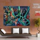 DC Comics Heroes Statue Of Liberty Art HUGE GIANT Print Poster