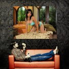 Sunny Leone Horny Brunette Big Boobs Huge 47x35 Print POSTER