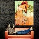 Alphonse Mucha Vintage Summer Painting Art Huge 47x35 Print Poster