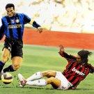 Paolo Maldini Vs Javier Zanetti Art Legend Sport 32x24 Print POSTER