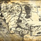 The Lord Of The Rings Middle Earth Map Art 24x18 Print Poster