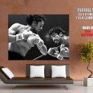 Roberto Duran Samaniego Boxing Bw Sport Huge Giant Print Poster