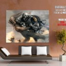 Clone Trooper Vs Jar Binks Star Wars HUGE GIANT Print Poster