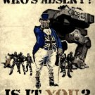 Who S Absent Is It You Military Propaganda Vintage Art 24x18 POSTER