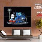 Thomas The Tank Engine Banksy Graffiti Street Art Huge Giant Print Poster