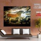 Lascaux Cave Painting Ancient Art Huge Giant Print Poster