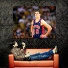 Bill Laimbeer Detroit Pistons NBA Huge 47x35 Print Poster