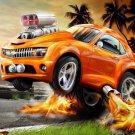 Hot Wheels Chevy Art Car Flames 16x12 Print Poster