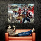 The Avengers Marvel Comics Art Huge 47x35 Print POSTER