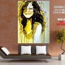 Janis Joplin Portrait Painting Art Music Huge Giant Print Poster