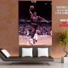 Michael Jordan Dunk Black Jersey Chicago Bulls Nba Basketball Huge Giant Poster