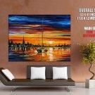 Calm Sunset Leonid Afremov Painting HUGE GIANT Print Poster