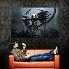 Alien Vs Predator Marine Game Art Huge 47x35 Print POSTER
