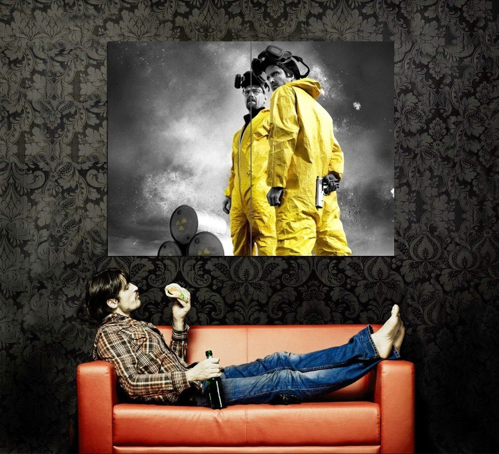 Breaking Bad Yellow Hazmat Suits TV Show Huge 47x35 Print POSTER