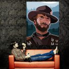 Clint Eastwood Spaghetti Western Art Legendary Actor Huge 47x35 POSTER